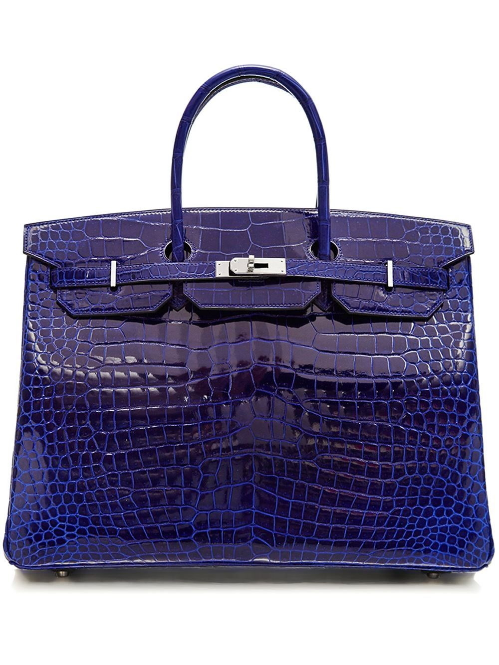 Herms Vintage 40cm Birkin Handtasche Rewind Affairs Nucelle Women Leather Purse Satchel Shoulder Bag Handbag Lock Gorgeous Glitter Elegant Blue Farfetchcom