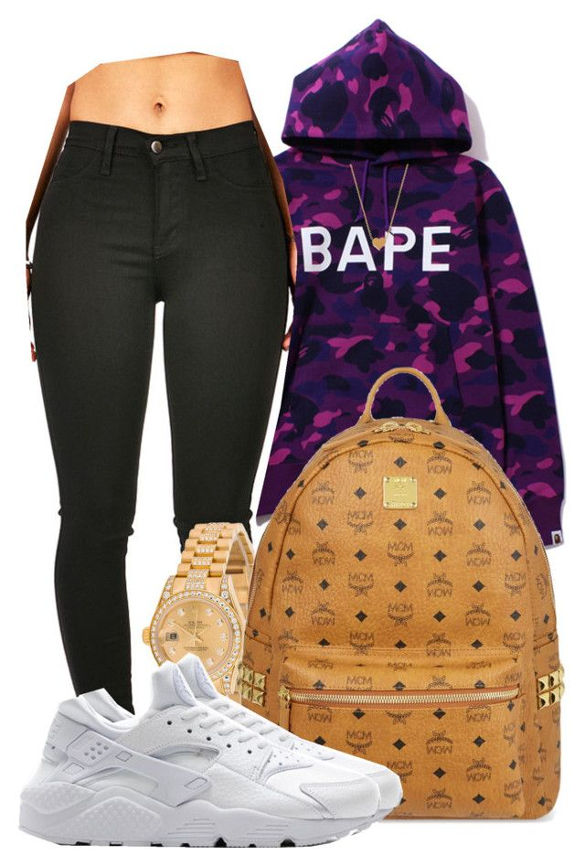 """ Top down when we in the A "" by mindlesspolyvore ❤ liked on Polyvore featuring Casetify, Rolex, MCM, NIKE and Minnie Grace"