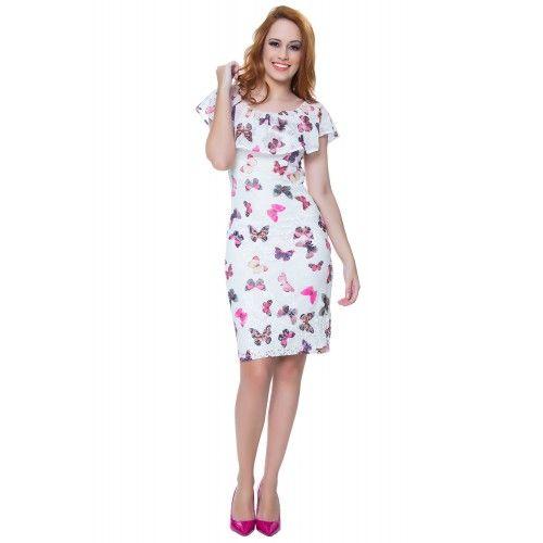 Vestido Borboleta Rosa - Hapuk