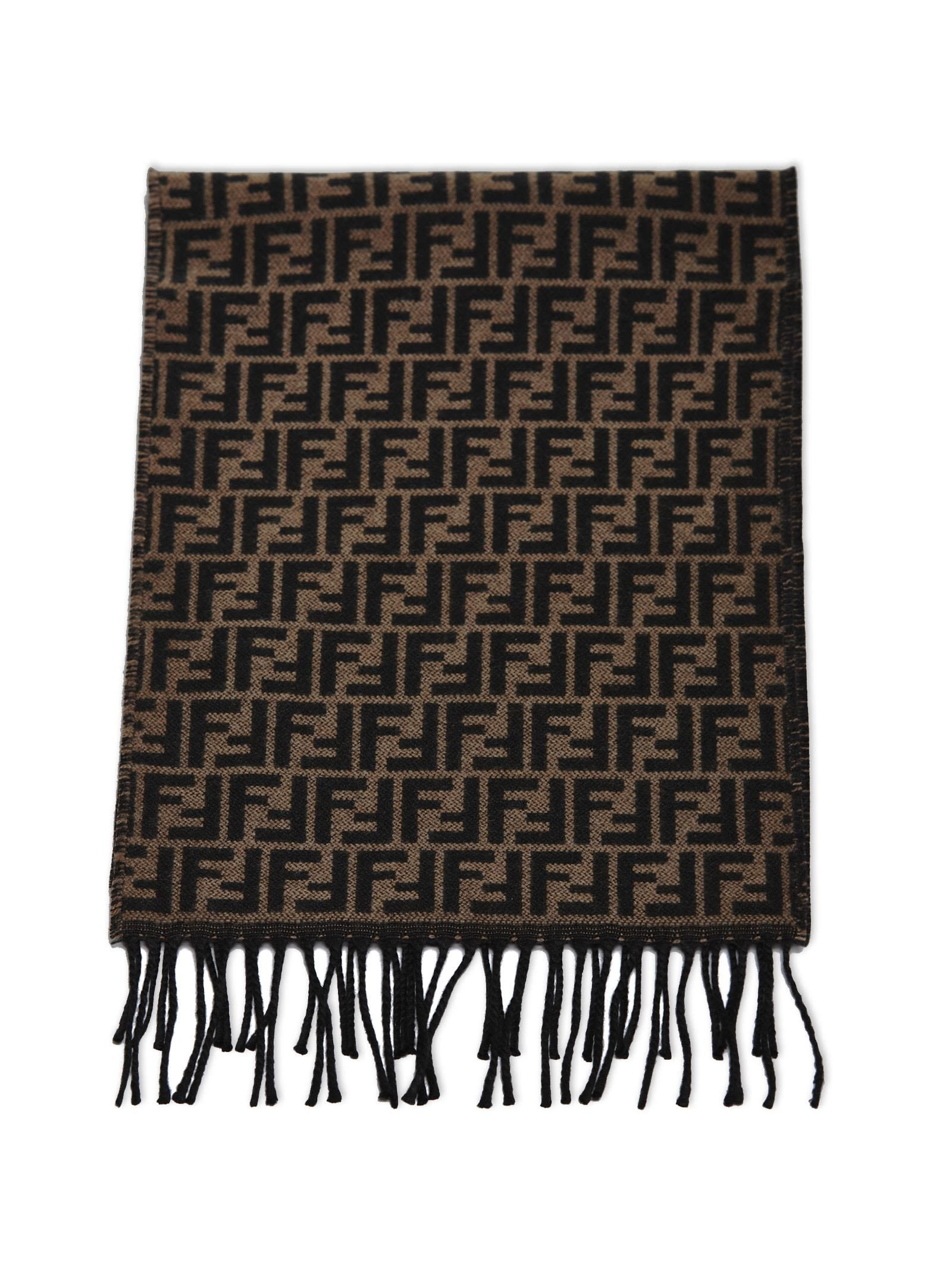c7809b3c5a Brown Oblong Silk F F Logo Pequin Stole Scarf/Wrap in 2019 | FASHION ...