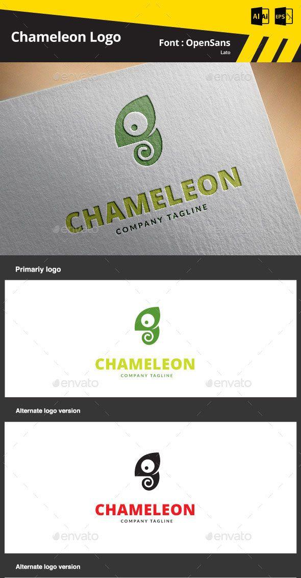 Chameleon Logo Template | Logo templates, Chameleons and Logos