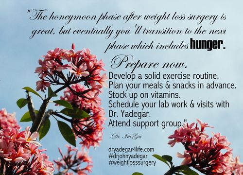 The honeymoon phase after #weightlosssurgery is great, but eventually you'll transition to the next phase which includes hunger.