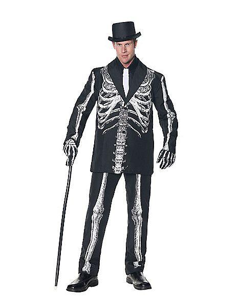 11f476b65d0e Bone Daddy Skeleton Tuxedo Adult Mens Costume - Spirithalloween.com ...