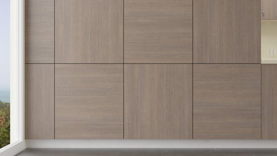 Washed Grey Oak Desain Dinding Dinding Desain