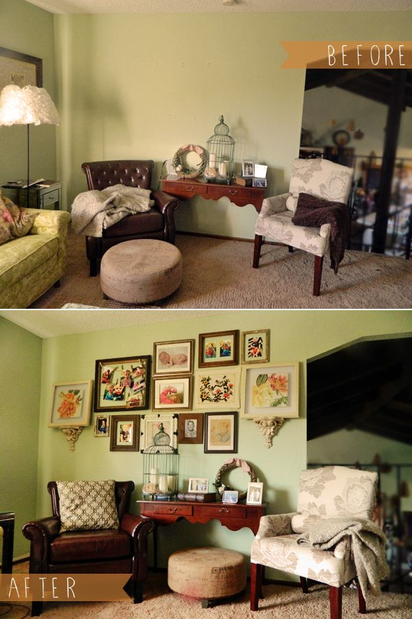 Diy Family Photo Display Click On Image To See More Home: Before And After: DIY Family Photo Gallery Wall