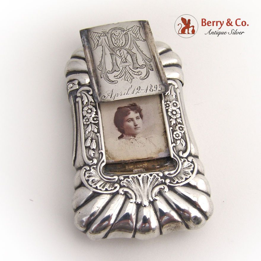 Mistress Match Safe Box Howard and Co 1889 Sterling Silver