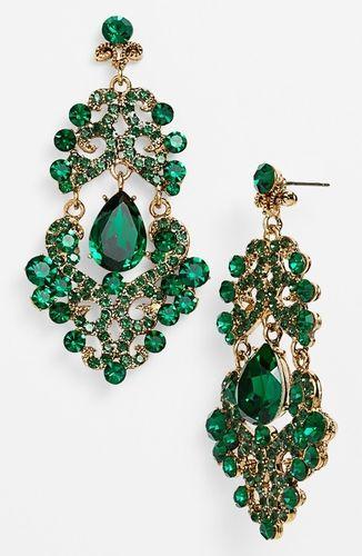 Tasha Ornate Chandelier Earrings Emerald Multi Antique Gold From Nordstrom On Catalogspree