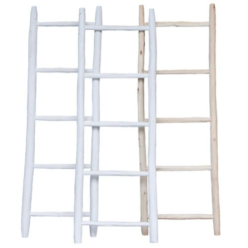 Decoratie ladder small leuk met lichtsnoer er over en for Decoratie ladder blokker