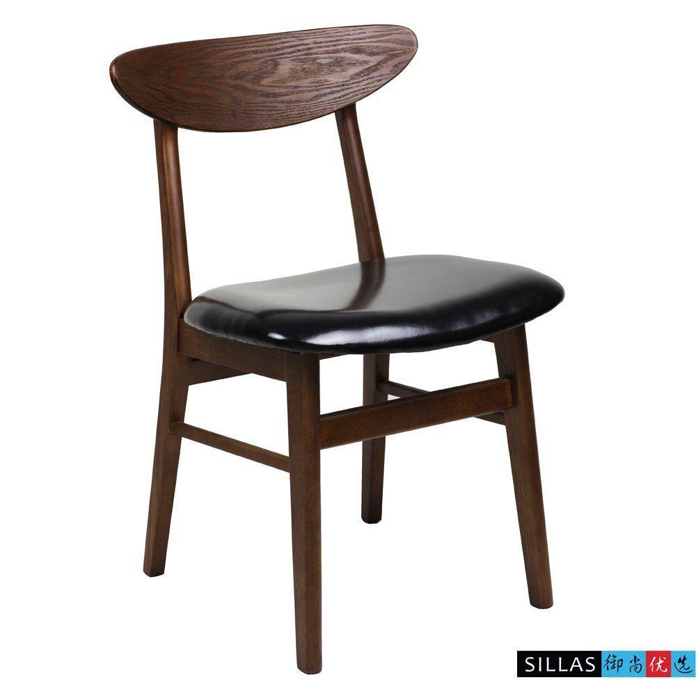 Aliexpress Com Buy Nordic Black Walnut Wood Dining Chair
