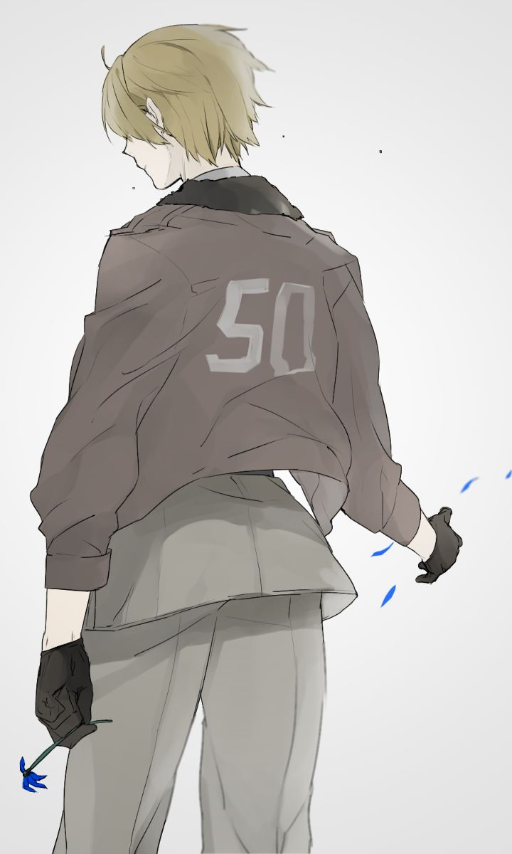 America Hetalia. This is soo sad, because it's the Davie flower and it's all old and dying and *sob* FEELS