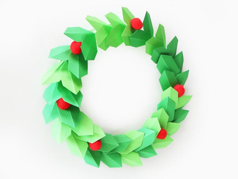 인테리어 소품 크리스마스 리스 종이접기로 쉽게 만들기 네이버 블로그 크리스마스 리스 크리스마스 인테리어 소품