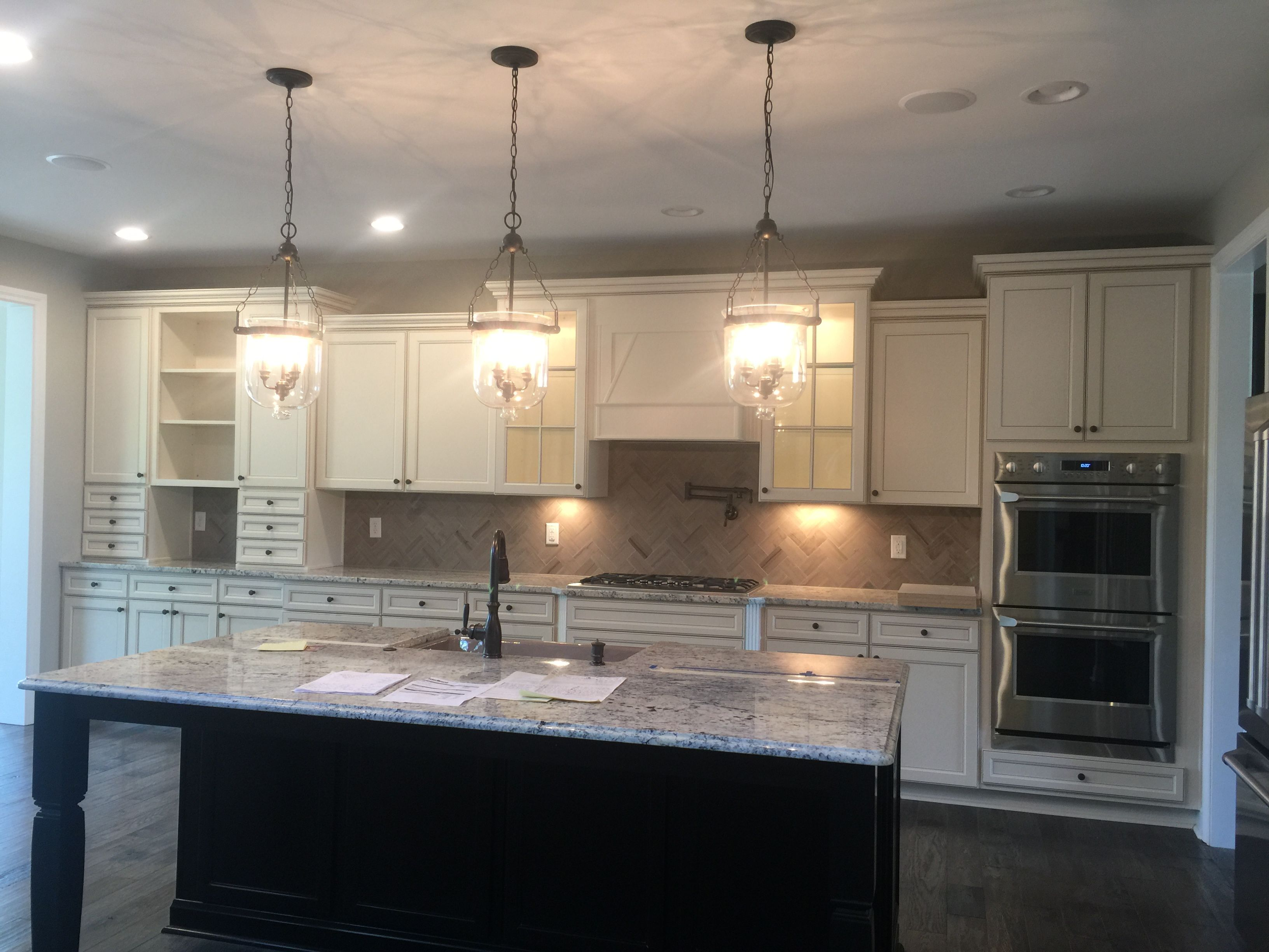 Durham Toasted Antique Cabinets On Perimeter