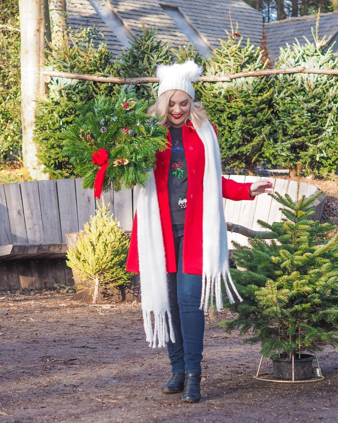 Katie Kirk Uk Style Blogger On Instagram In My Heart Is A Christmas Tree Farm Where The People Would Come T In 2020 Christmas Tree Farm Tree Farms Fashion Blogger
