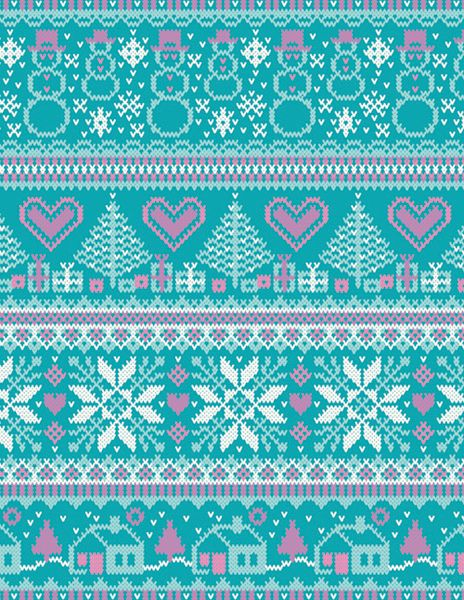 Christmas Knitting Background : Knit fairisle pattern how delicate knitting