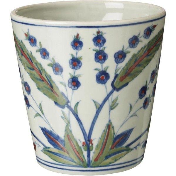 OKA Iznik China Planter ($76) ❤ liked on Polyvore
