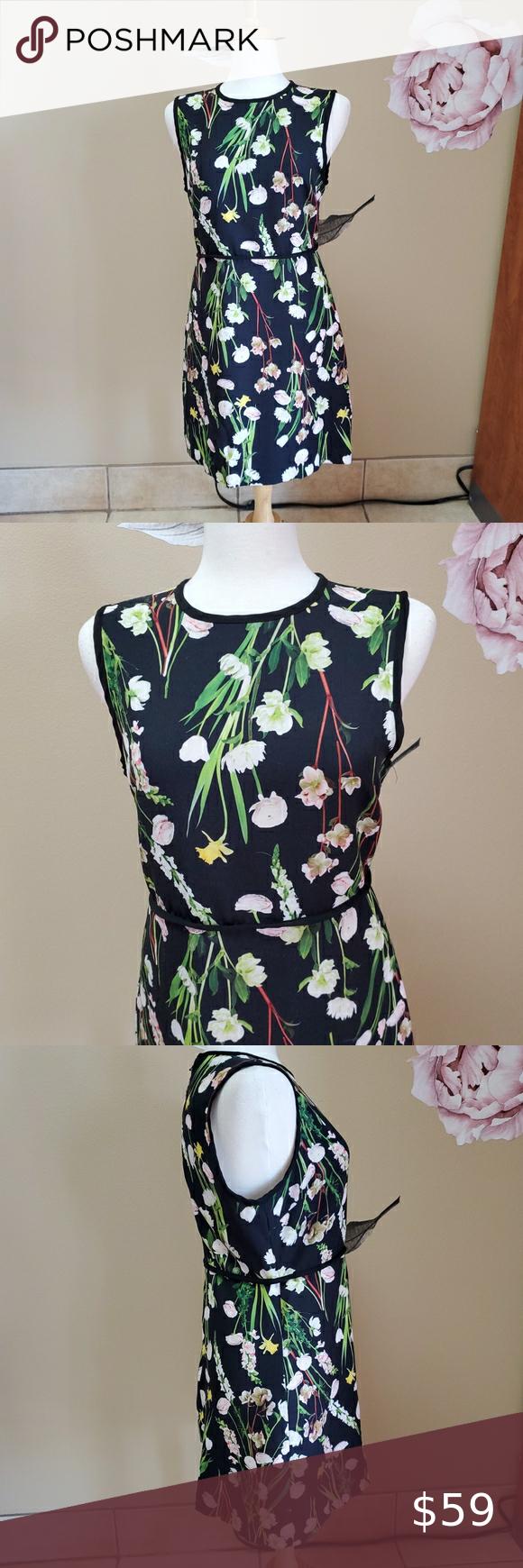 Victoria Beckham Black Floral Dress In 2020 Floral Dress Black Floral Dress Clothes Design [ 1740 x 580 Pixel ]