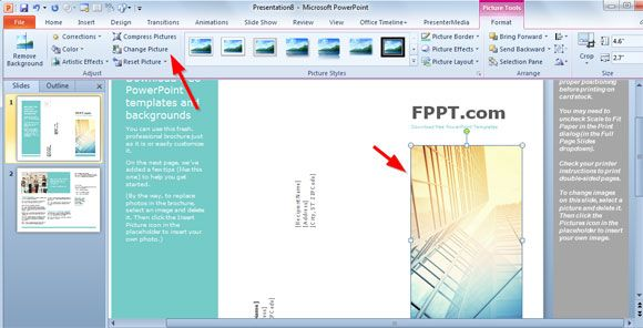 Simple Brochure Templates For Powerpoint Brochure Templates