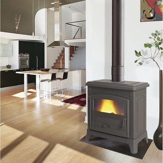 Poele A Bois Godin Fonteval Anthracite 10 Kw Home Home Appliances Decor