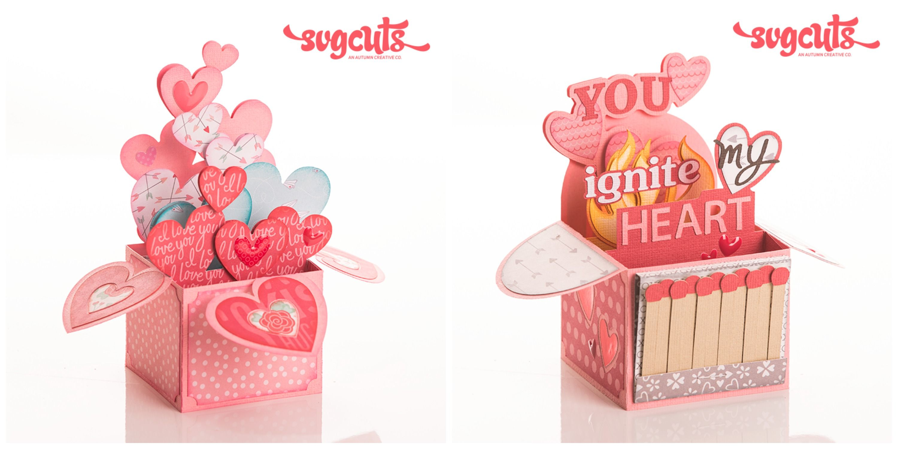 Melody Lane Designs Valentine Box Cards from SVG Cuts  Hello