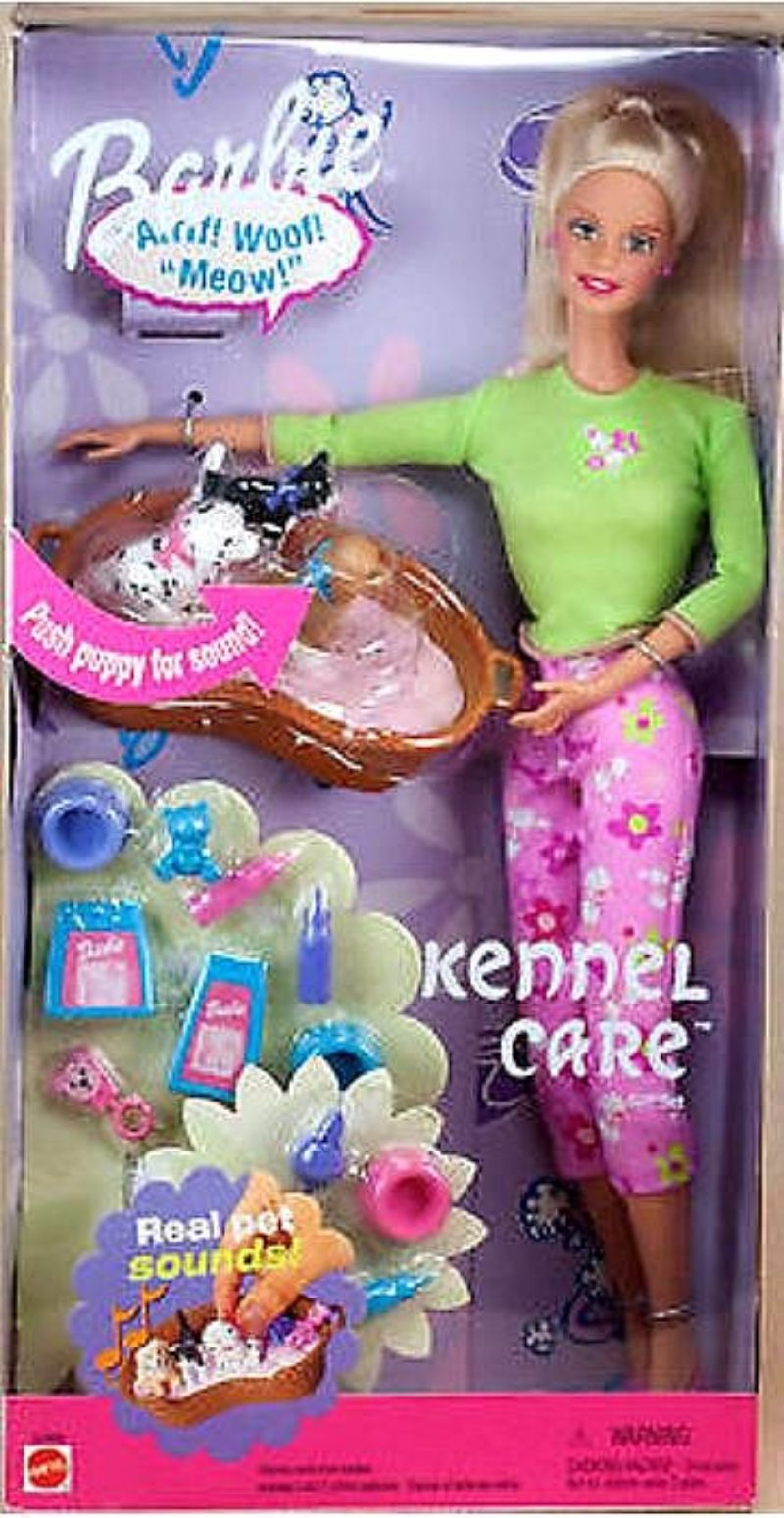 Barbie Kennel Care Barbie Doll Gift Set Box 53449 Value And Details Barbie Puppy Doll Gift Barbie Toys