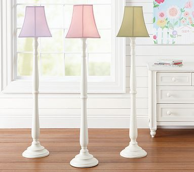 Floor lamp green lampshade from pottery barn kids penelope shade payton floor base