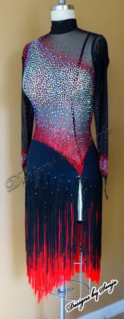 Ballroom Latin Dress and ballroom jewelry designed and created by Sonja Ballin. All Designs copyright ©2016 Sonja Ballin of Tampa Bay, Florida. www.sonjadesigns.com Check us out (and like) on Facebook: https://www.facebook.com/pages/Designs-By-Sonja/220737151285770
