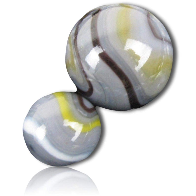 Custom 5 8 1 Inch 25 Mid To Big Size Glass Marbles W Cute Bright Neon Swirls Cute Vintage Style Gray Black Yellow W 1 Shooter Glass Marbles Glass Marble