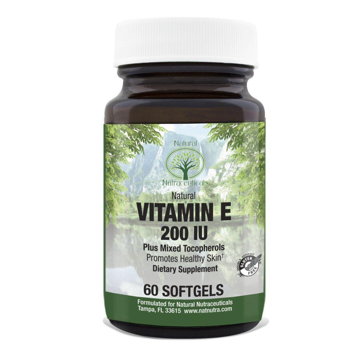 Natural nutra vitamin e mixed alpha tocopherols supplement
