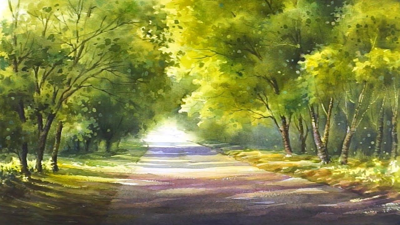 A Feeling Of Spring Watercolor Landscape Painting Youtube Watercolor Landscape Paintings Landscape Paintings Watercolor Landscape