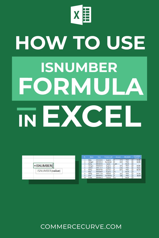 How To Use Isnumber Formula In Excel Excel Formula Excel Formula