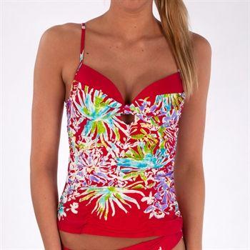 5a32090e56a Nanette Lepore Hula Gal Honey Tankini Top #VonMaur #NanetteLepore #Red # Swimwear