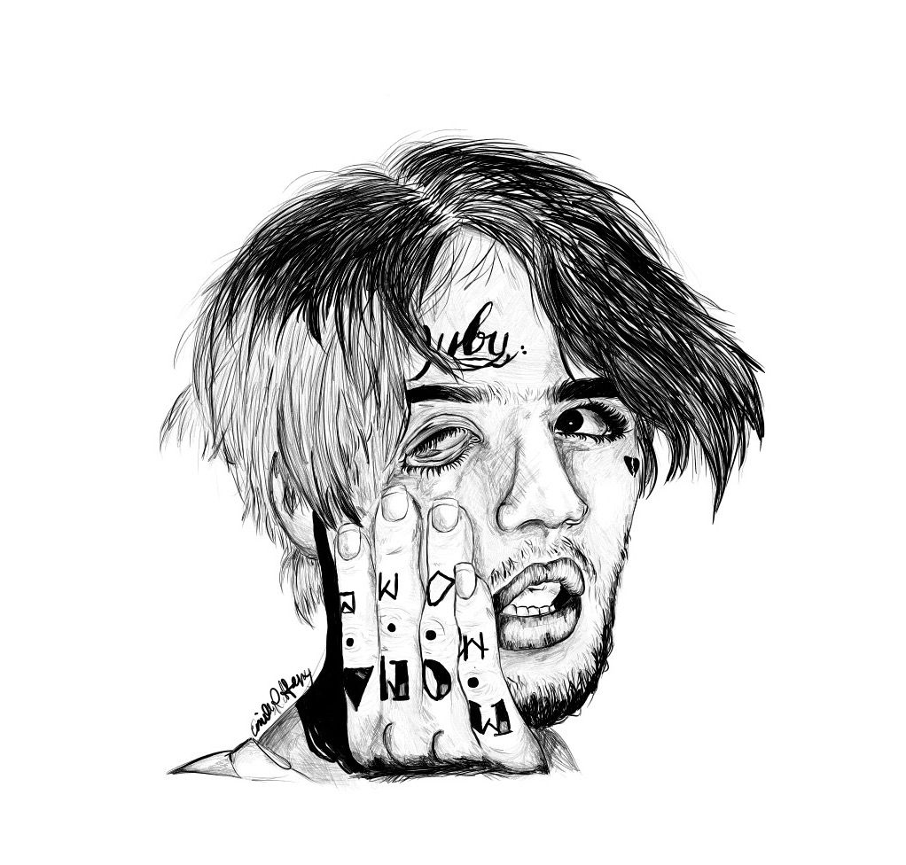 Lil Peep Drawing Art In 2019 Lil Peep Tattoos