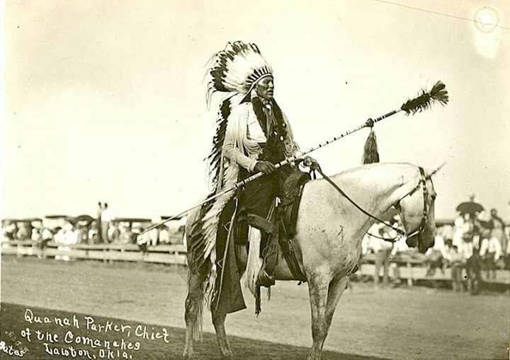 Chief Quanah Parker.  Comanche. Lawton, Oklahoma. 1904-1918