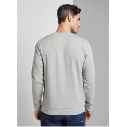 Photo of Tom Tailor Herren Sweater mit Brusttasche, grau, unifarben, Gr.L Tom TailorTom Tailor