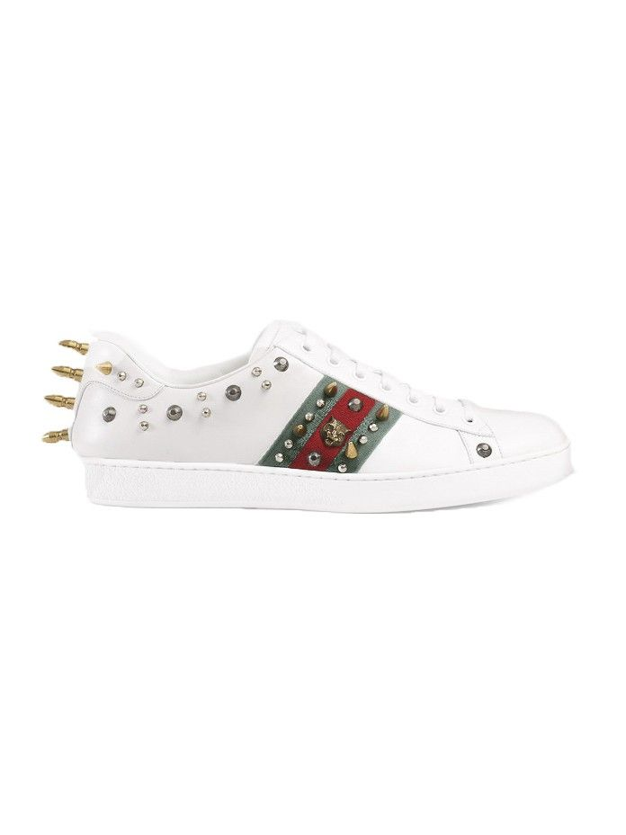 33d8ee0a739 GUCCI Ace studded leather low-top sneaker.  gucci  shoes