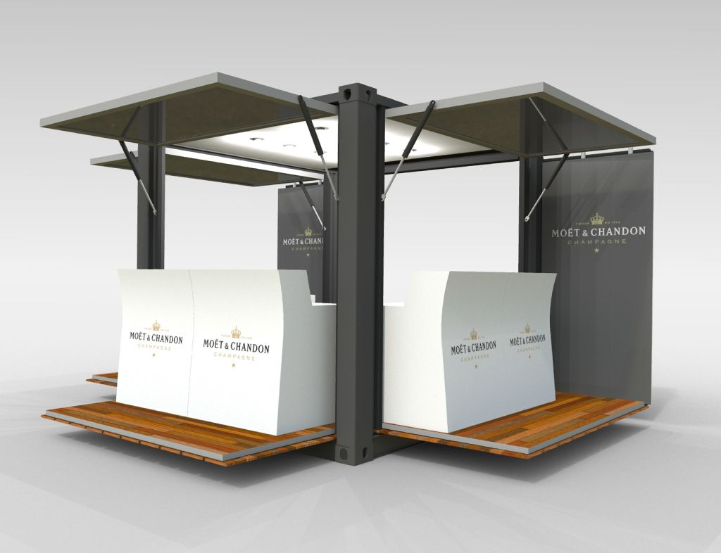 Container Cafe V2 3d Model Container Cafe Shipping Container Cafe Container Coffee Shop