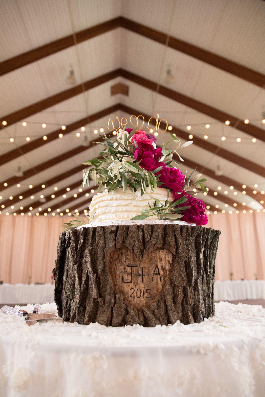 Personalized treetrunk wedding cake stand wedding pinterest