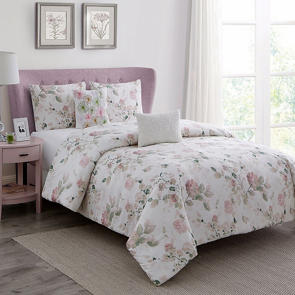 Wonder Home Chelsea 5Piece Comforter Set In Pink