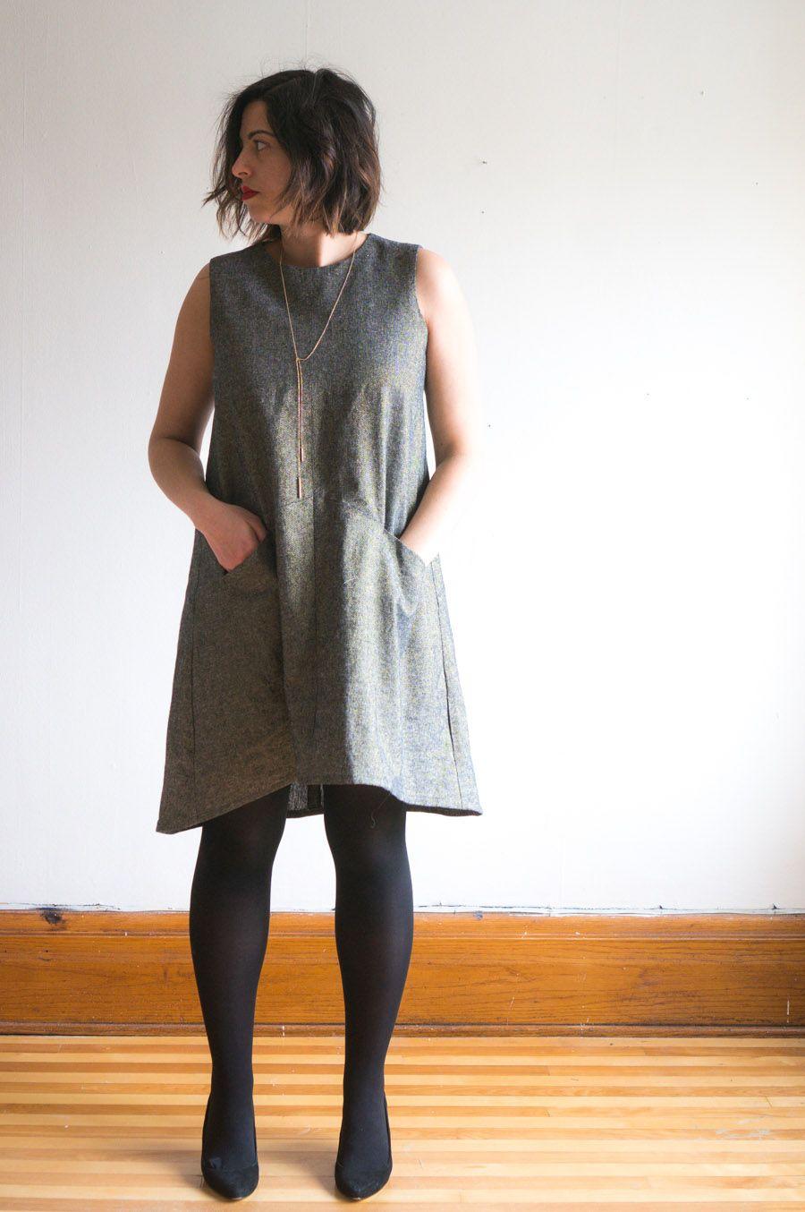 44f134f1acd Farrow Dress by Grainline Studio    Kaufman Essex Metallic Linen    Handmade  by Closet Case Patterns