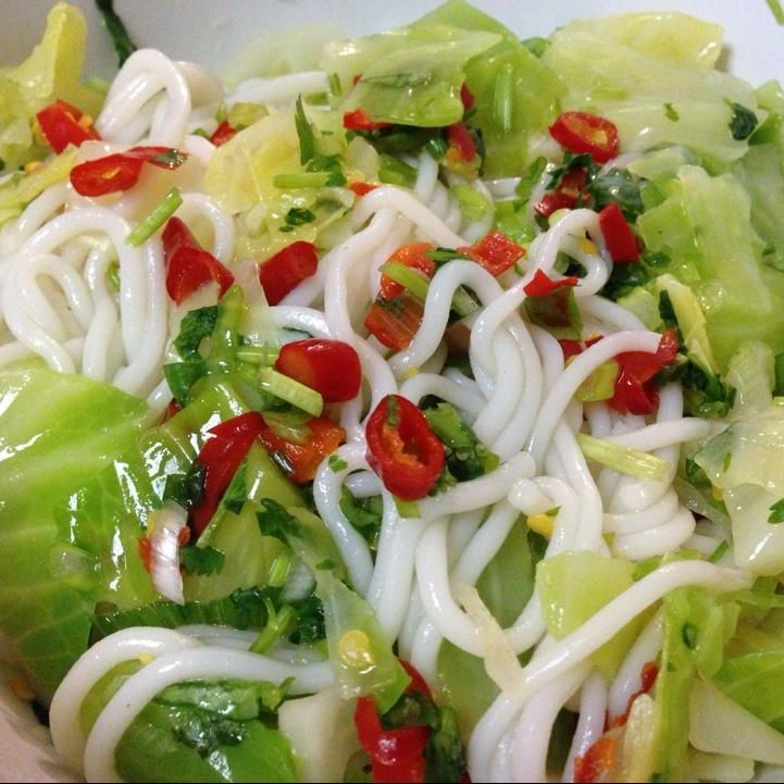 Hmong Wedding Food: Noodle With Cabbage Salad- Khaub Poob Tso. Discover Our