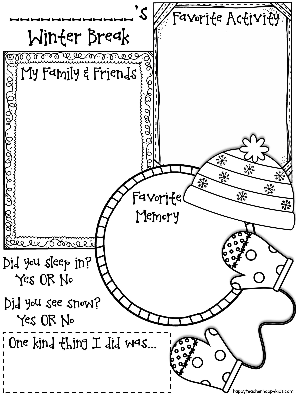 Winter Break Sharing Page - Freebie! | Education | Pinterest ...