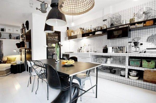 Cucina piastrelle quadrate panton nera kitchen piastrelle