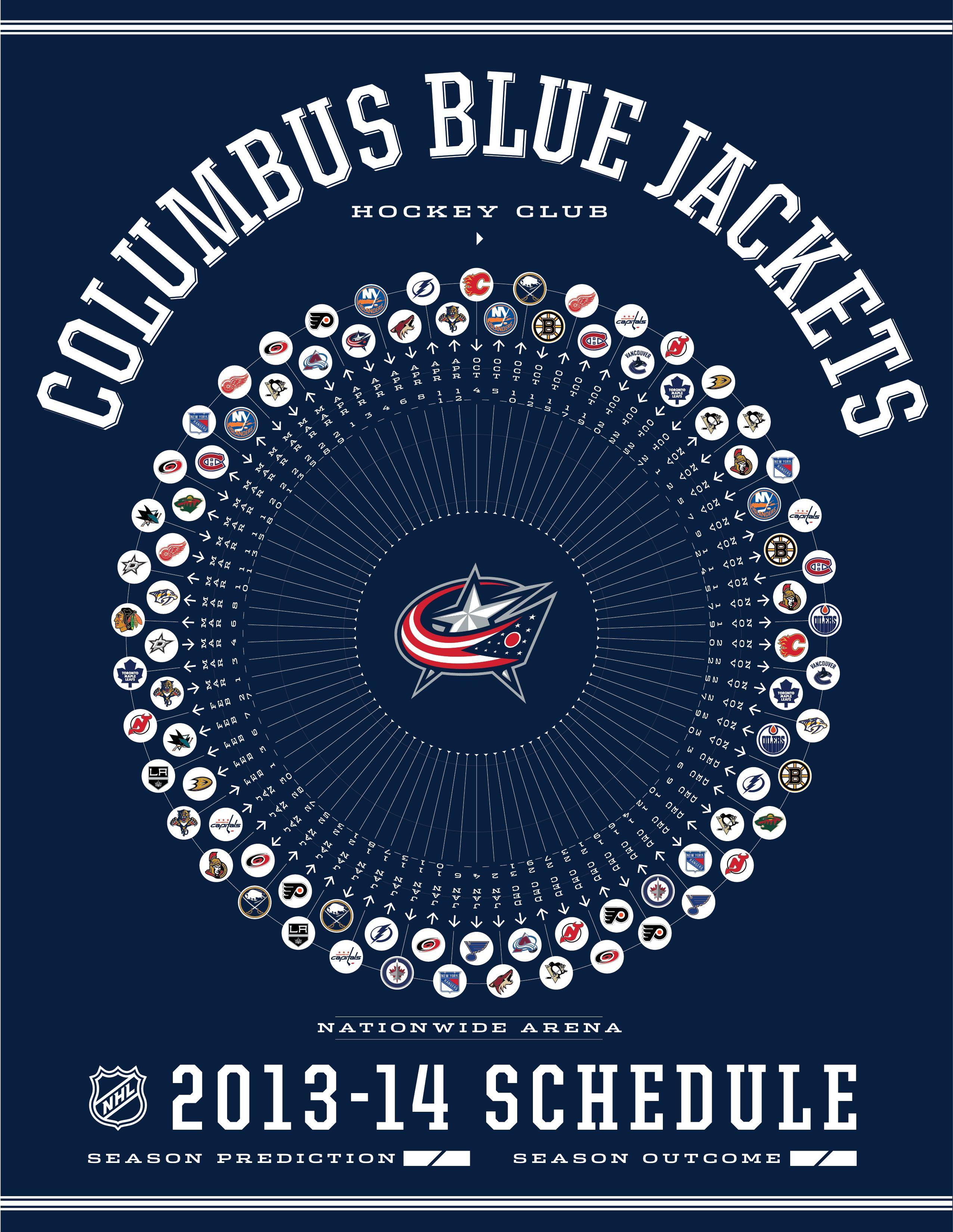 Columbus Blue Jackets 2013-14 Schedule | GO BLUE JACKETS