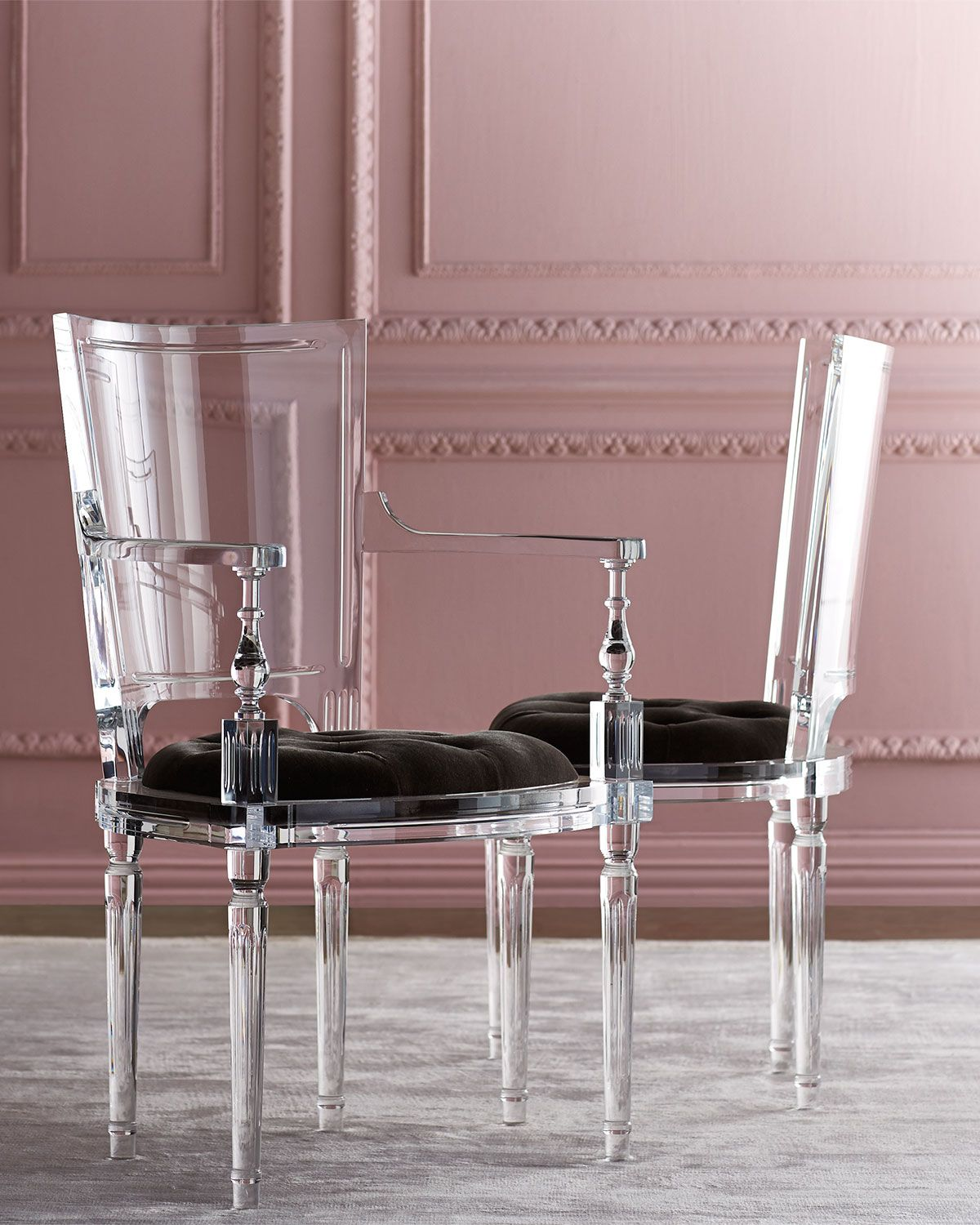 lucite acrylic chairs chair cover rentals richmond va global views katherine home stuff i love