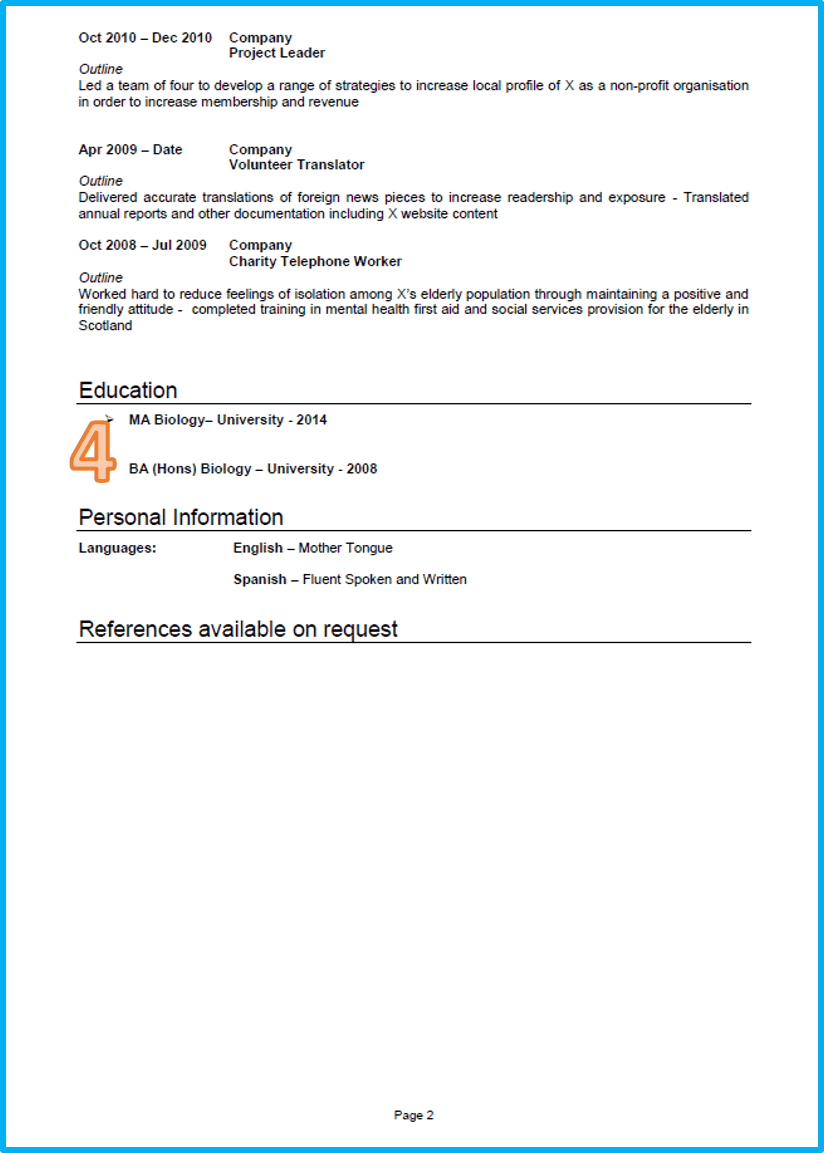 Marketing CV 2 Good cv, Cv template uk, Cv examples