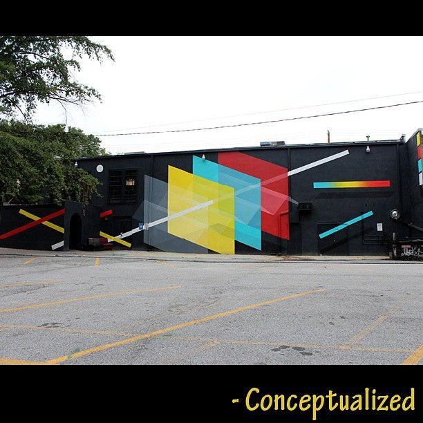 """September 20th, 2013 - """"Passing Through Gates"""" by #christopherderekbruno for @livingwallsatl #mural #livingwalls #livingwallsatl #streetart #streetartist #wallart ..."""