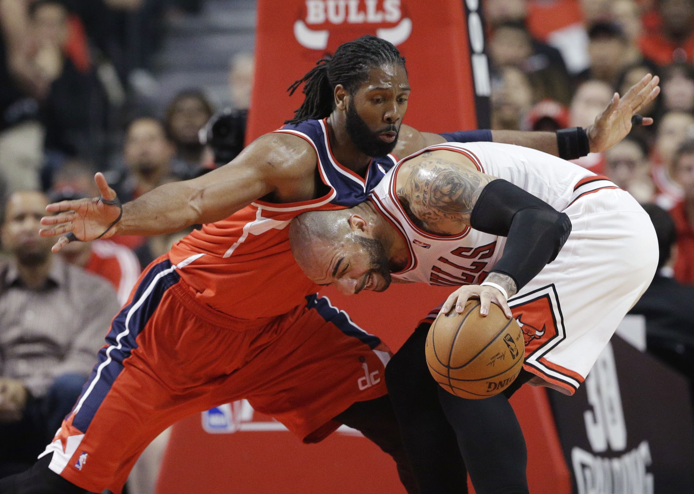 Bulls have no answer for Nene as Wizards take Game 1 Nba