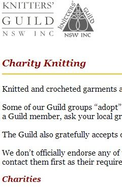 Charity Knitting Information Knitting For Charity Charity Knitting