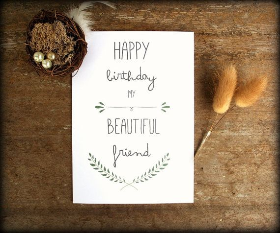 Best Friend Birthday card, Happy Birthday Card, Greeting Card - printable best friend birthday cards