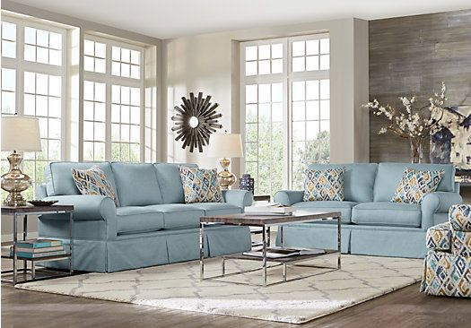 Affordable Living Room Designs Provincetown Sky 7 Pc Living Room$177700Find Affordable